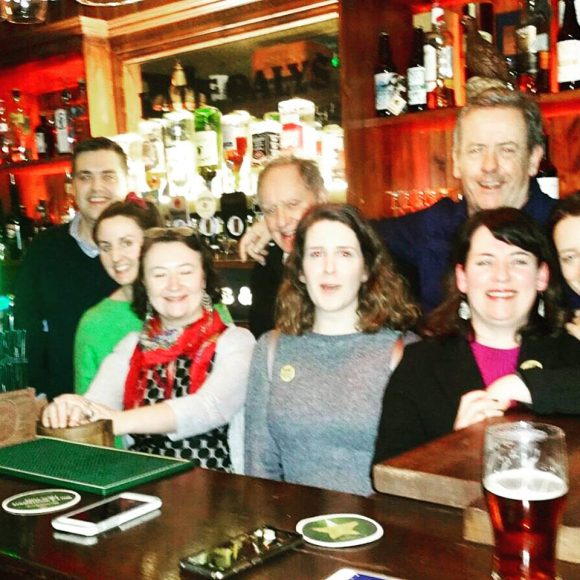 Vincent Browne & Luka Bloom visit Katie Dalys